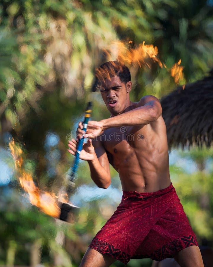 Danseur du feu photo libre de droits