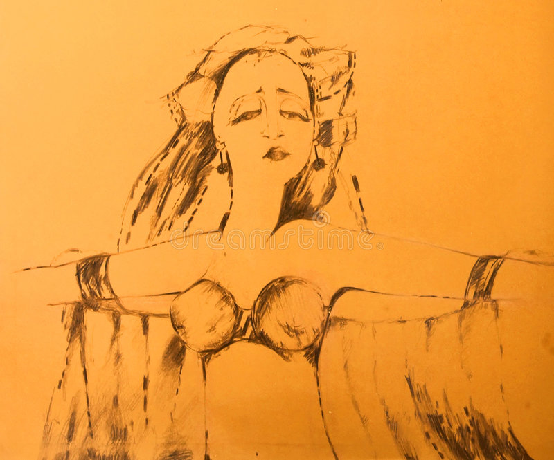 Danseur exotique illustration de vecteur