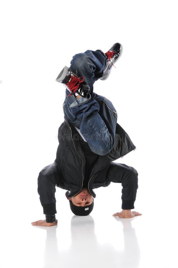 Danseur Headstand de exécution de Hip Hop photographie stock