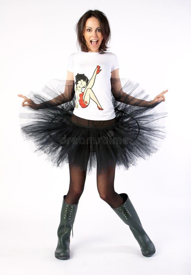 Danseur heureux fou photo libre de droits