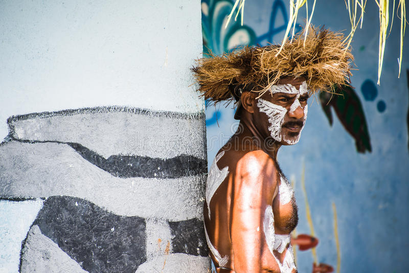 Danseur masculin de Kanak photo libre de droits