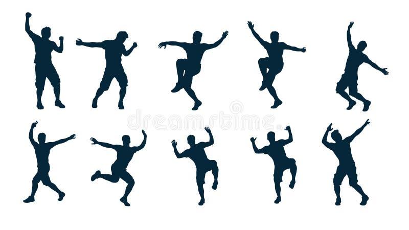 Danseur masculin de silhouette illustration stock