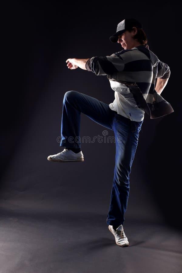 Danseur moderne d'homme frais photo stock