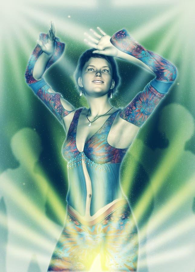 Danseur persan Template illustration stock
