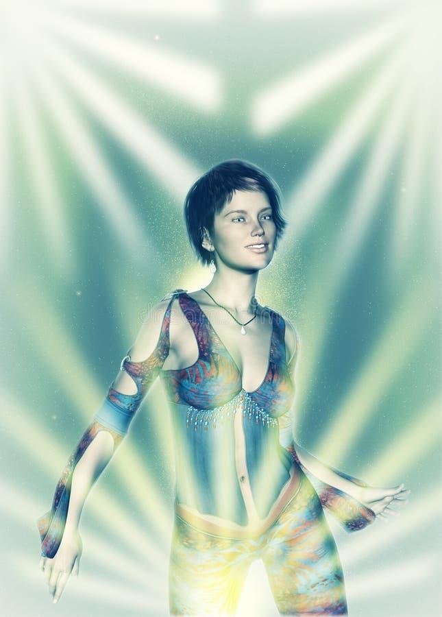 Danseur persan Template illustration libre de droits