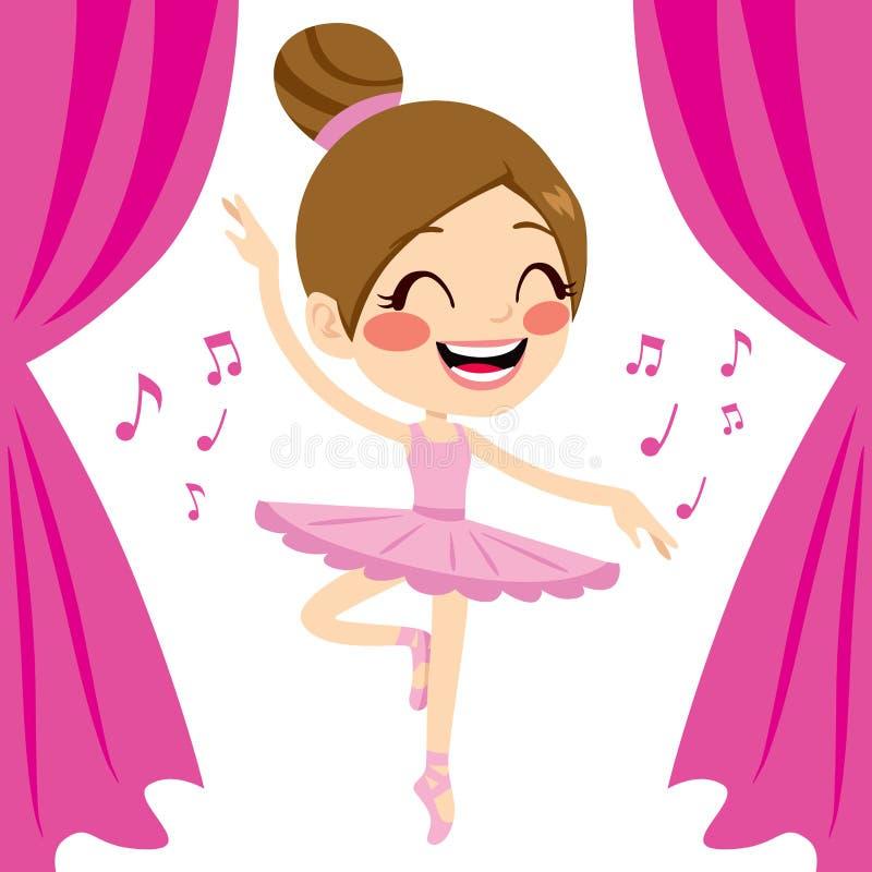 Danseur rose de tutu de ballerine illustration libre de droits