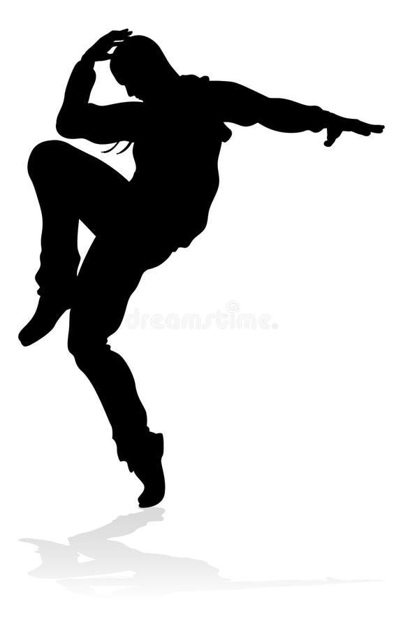 Danseur Silhouette de danse de rue illustration libre de droits