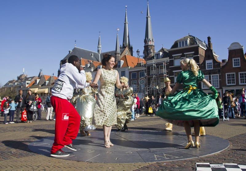 Danseurs à Delft photo stock