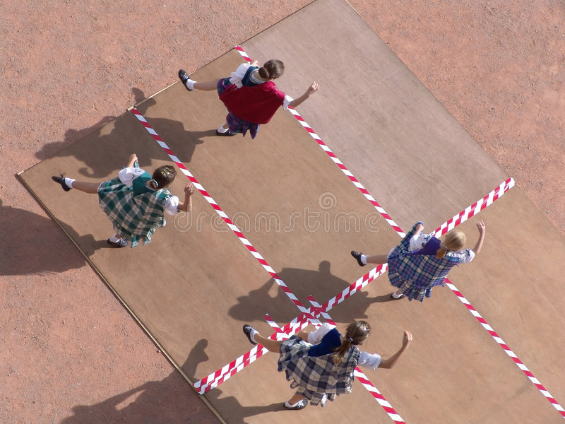 Danseurs écossais Photo libre de droits