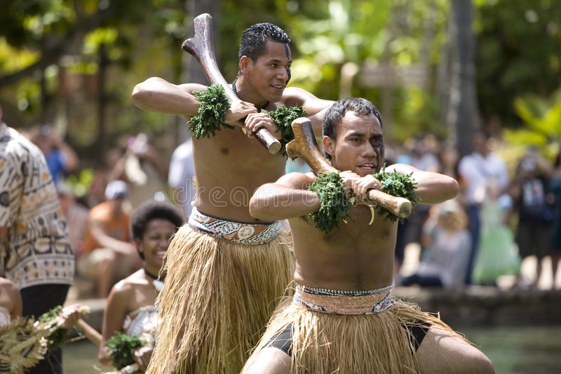 Danseurs 1587 de Fijian photo stock