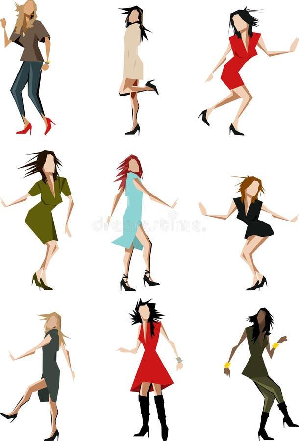 Danseurs illustration stock