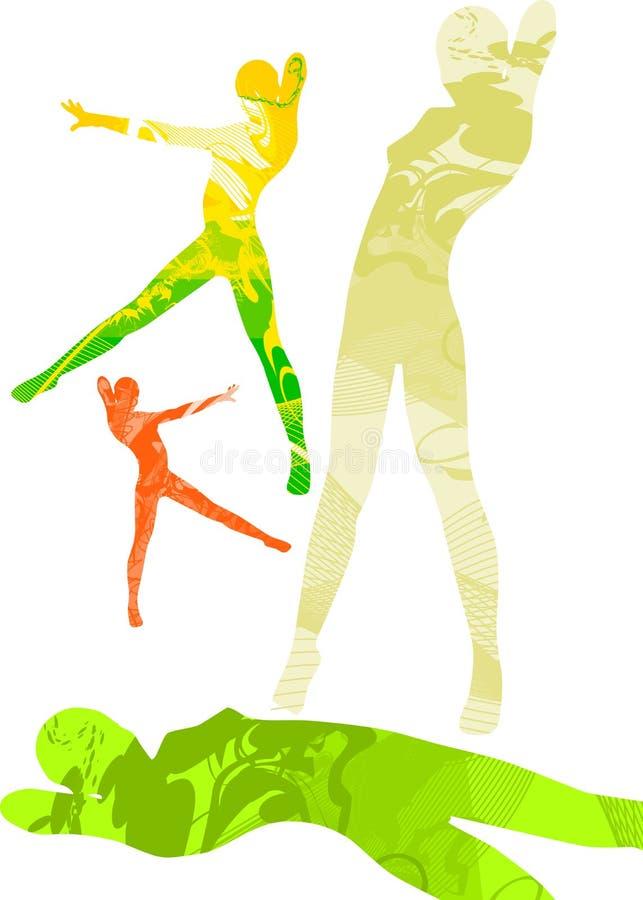 Danseurs abstraits illustration stock