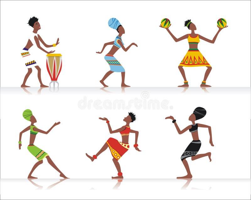Danseurs africains illustration libre de droits