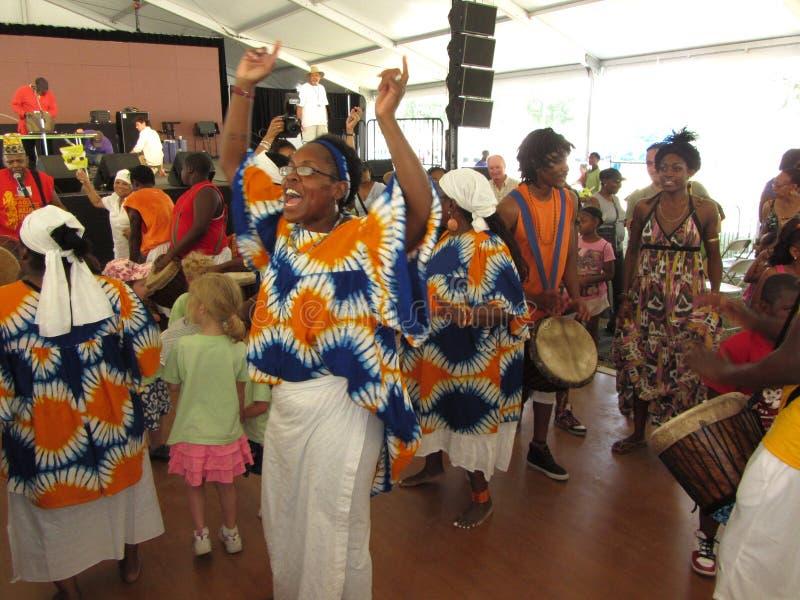 Danseurs africains de musique photos stock