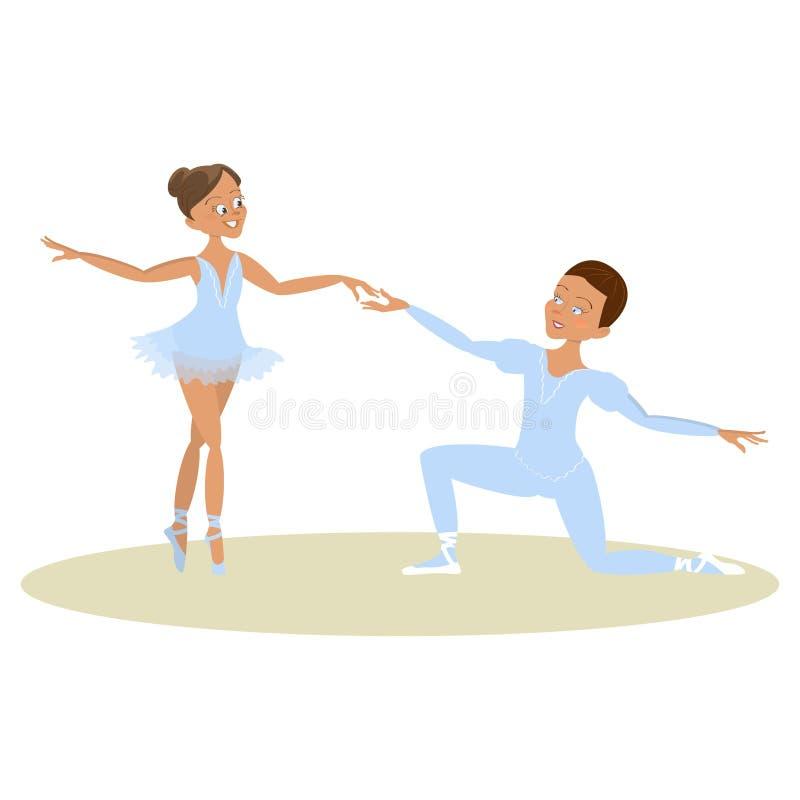 Danseurs classiques de garçon et de fille illustration stock