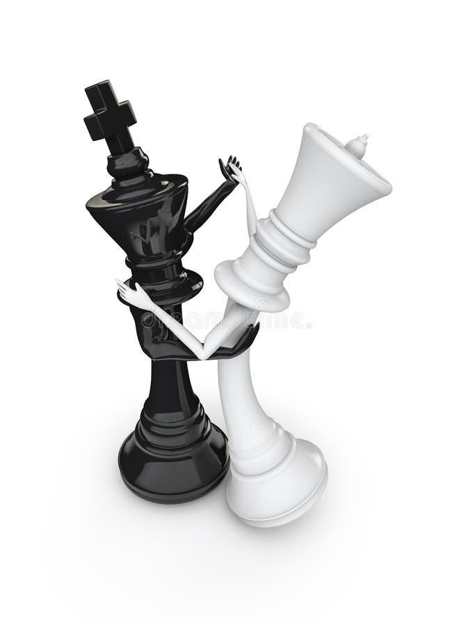 Danseurs d'échecs illustration stock