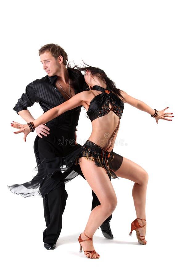 danseurs d'action photo stock