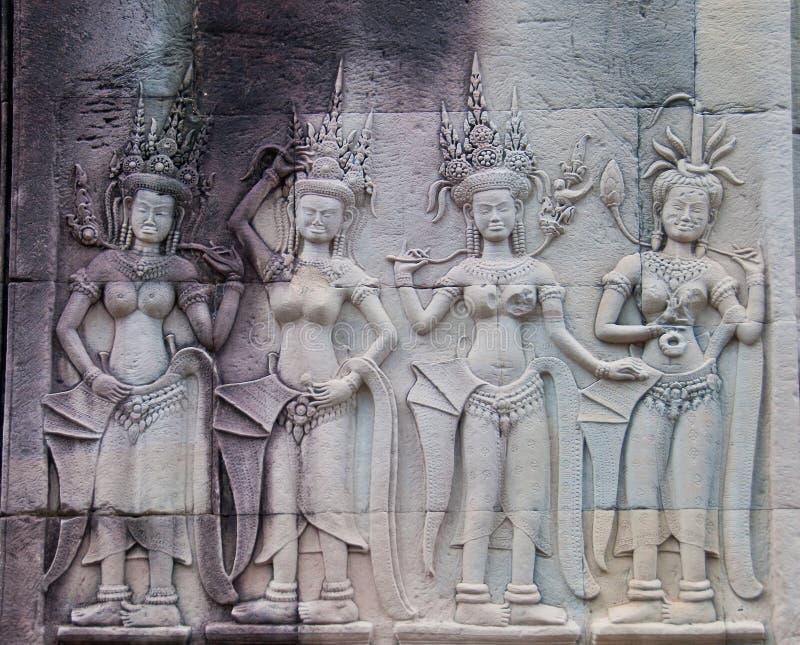 Danseurs d'Apsara d'Angkor Wat photographie stock libre de droits