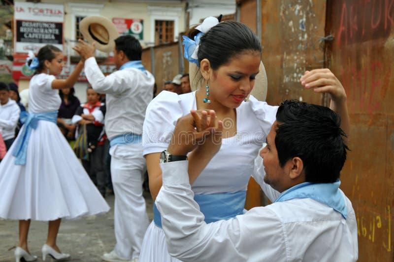 Danseurs d'Ecuadorian image stock