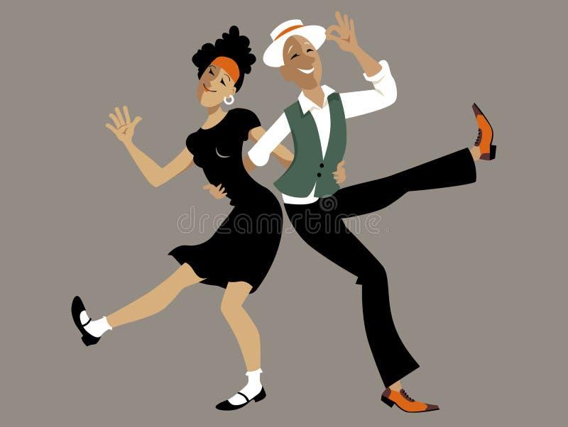 Danseurs d'houblon de Lindy illustration de vecteur