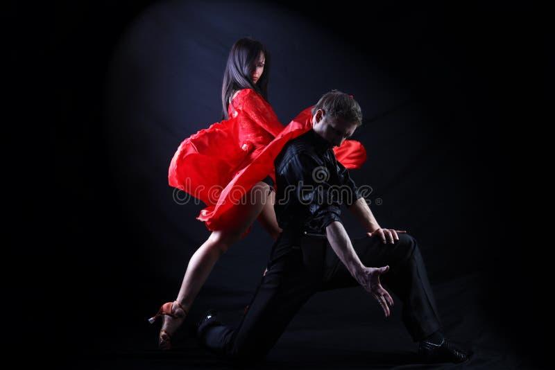 Danseurs dans l'action photographie stock