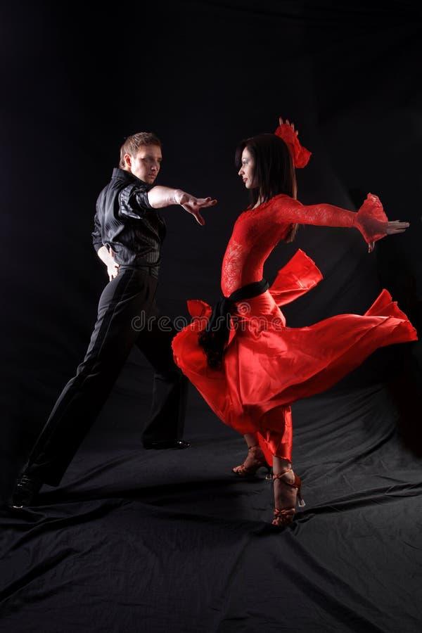 Danseurs dans l'action images libres de droits
