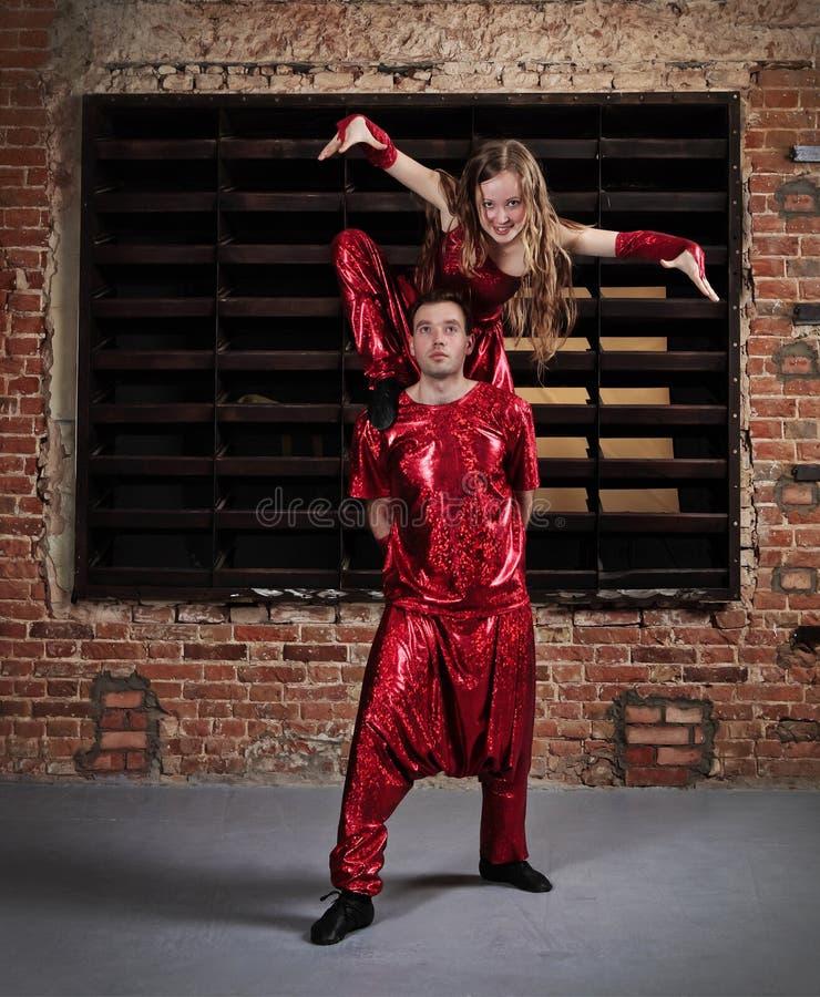 Danseurs dans l'action photographie stock libre de droits