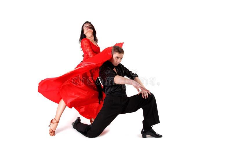 Danseurs dans l'action photo stock
