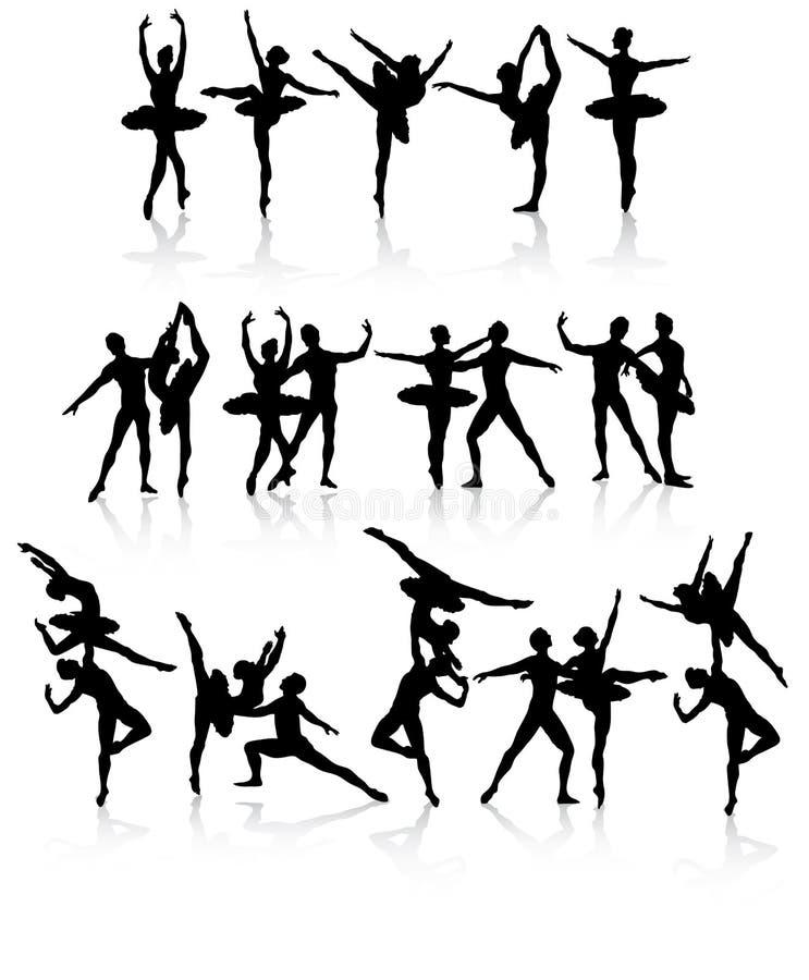 Danseurs de ballet d'isolement illustration libre de droits