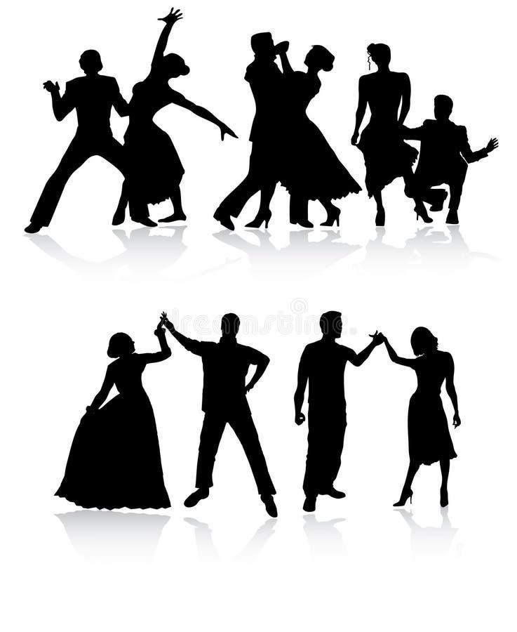 Danseurs de couples illustration stock