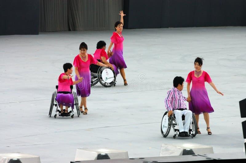 Danseurs de fauteuil roulant image stock