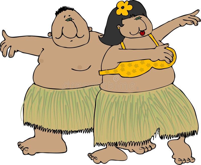 Danseurs de Hula illustration de vecteur