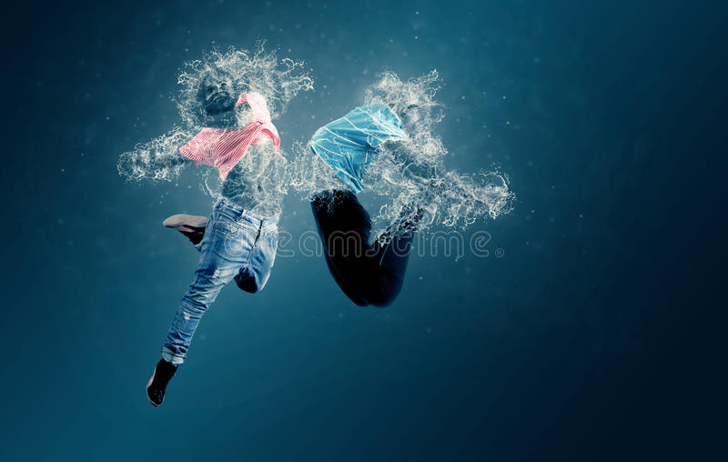 Danseurs de l'eau image stock