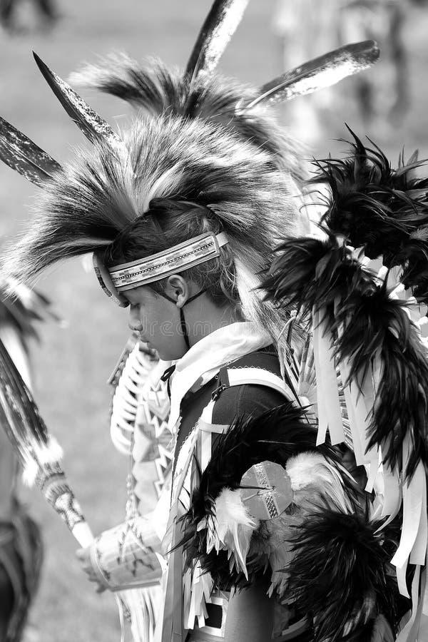 Danseurs de prisonnier de guerre de natif américain wouah images libres de droits