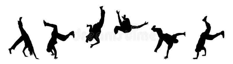 Danseurs de rue illustration stock
