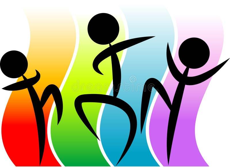 Danseurs drôles de disco illustration stock