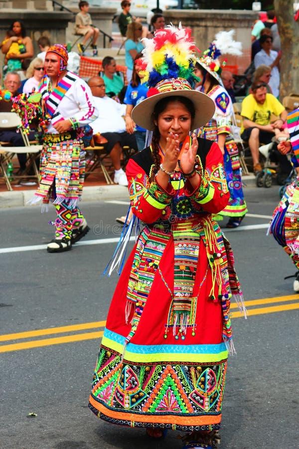 Danseurs ethniques boliviens photo libre de droits