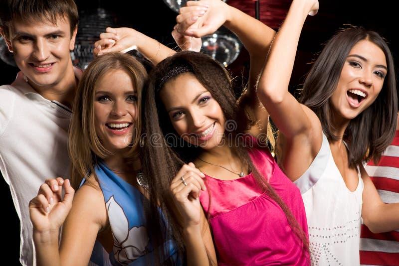 Danseurs heureux images libres de droits
