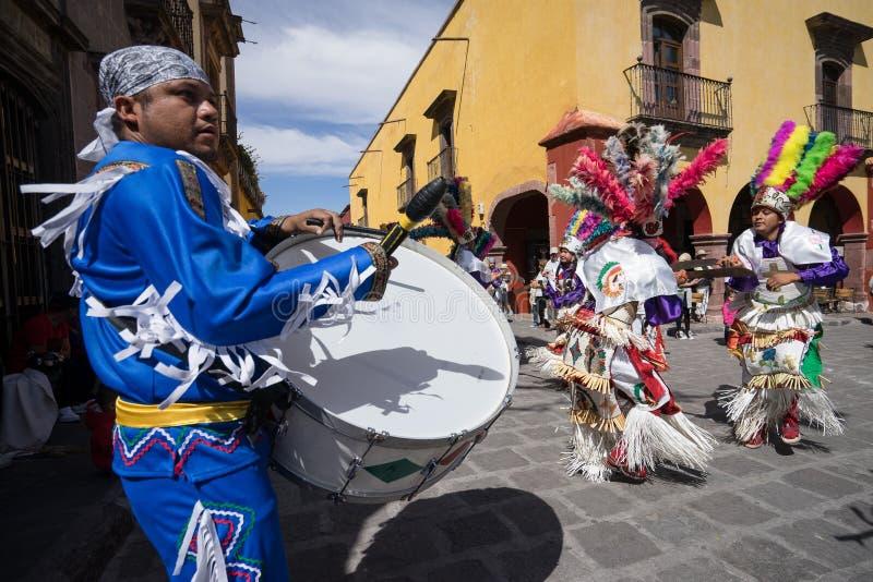 danseurs indigènes au Mexique photo libre de droits