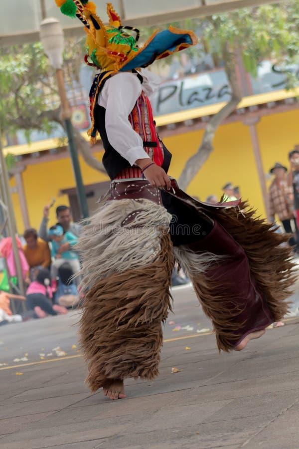 Danseurs indigènes de l'Equateur image libre de droits