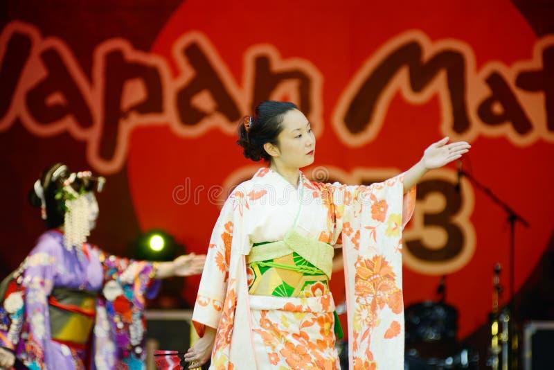 Danseurs japonais image libre de droits