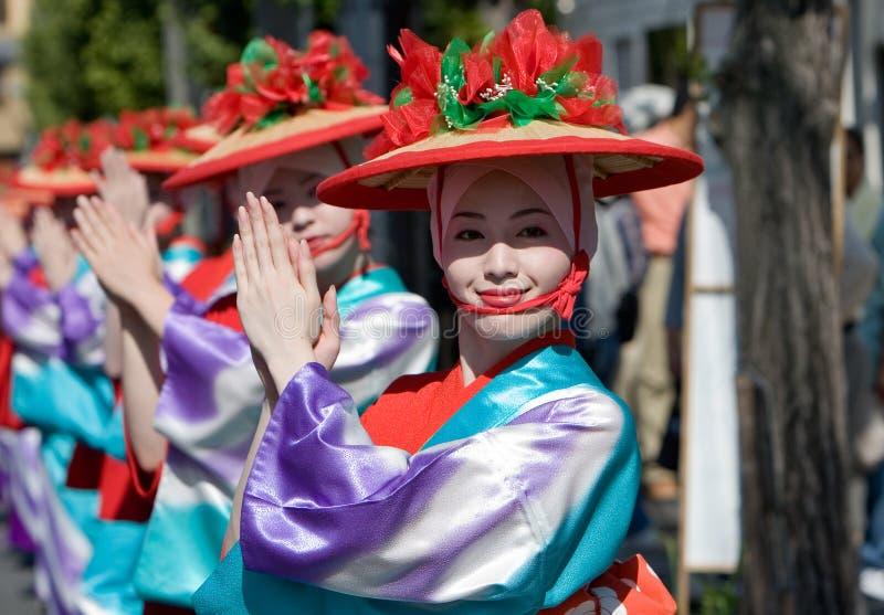Danseurs japonais de festival photo stock