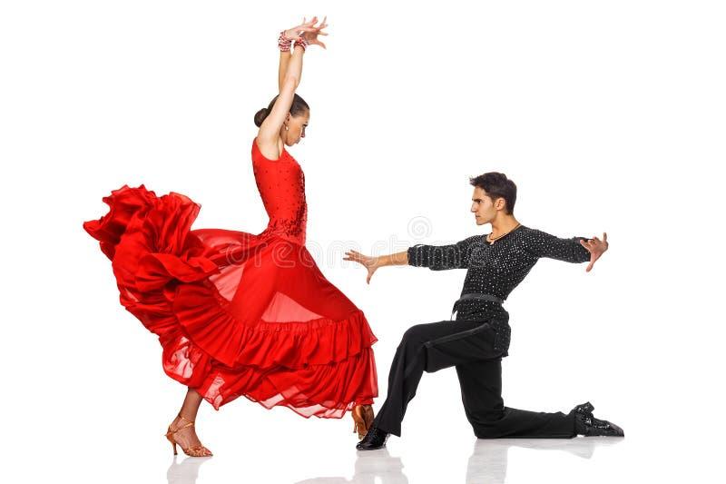 Danseurs latins d'élégance dans l'action photos libres de droits
