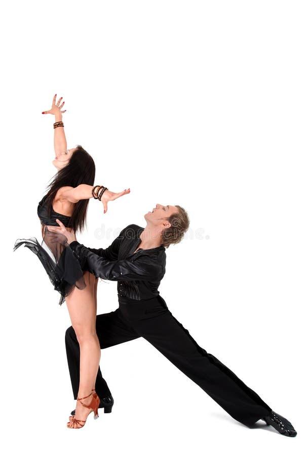 Danseurs latins dans l'action images libres de droits
