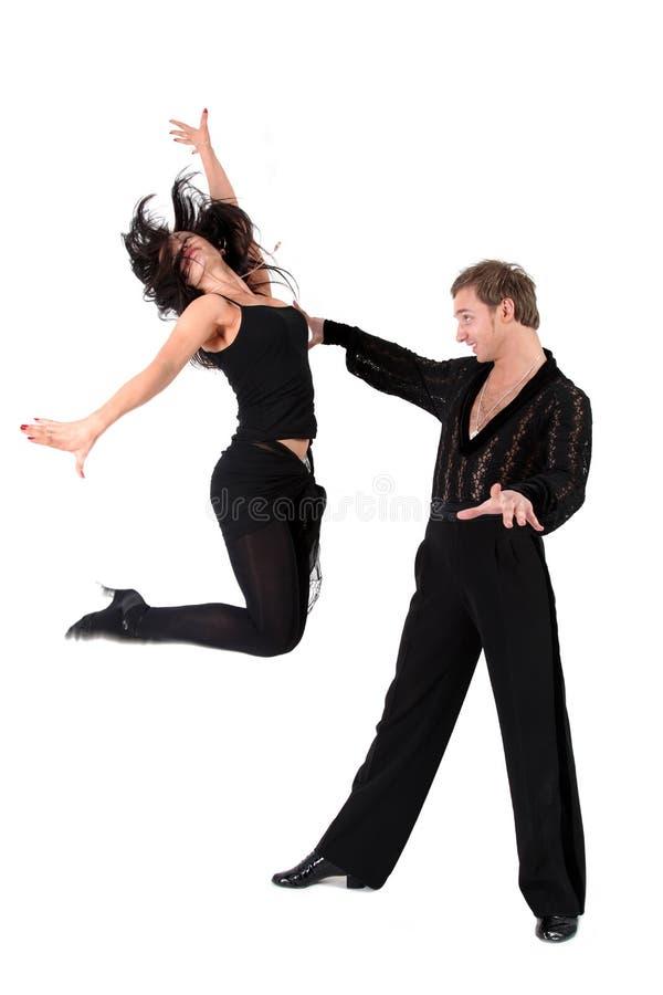 Danseurs latins dans l'action images stock
