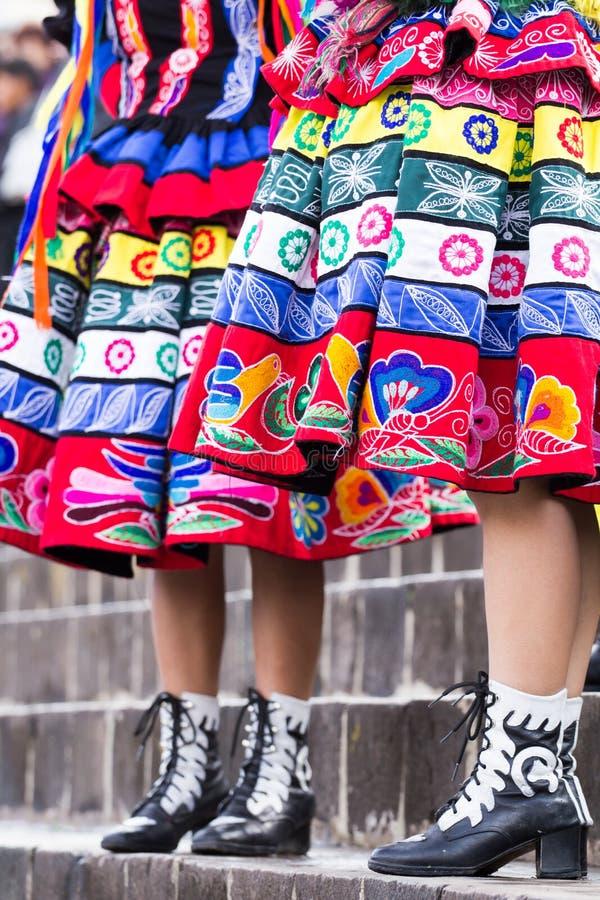 Danseurs péruviens   image stock