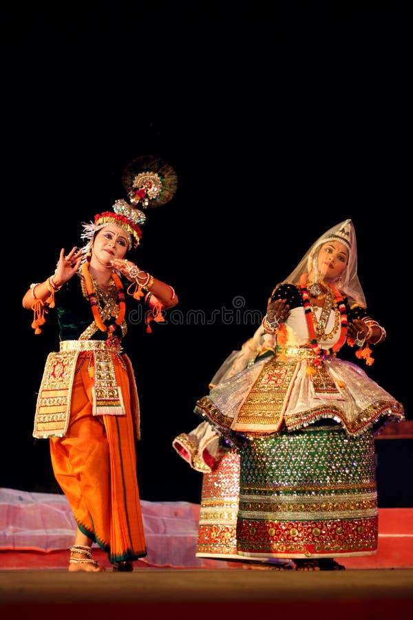 Danseurs professionnels de Manipuri images libres de droits