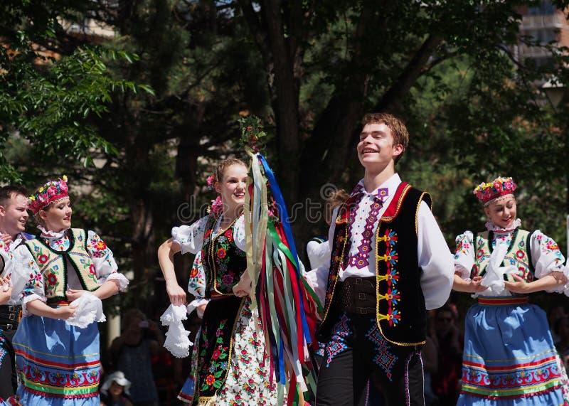 Danseurs ukrainiens photo stock