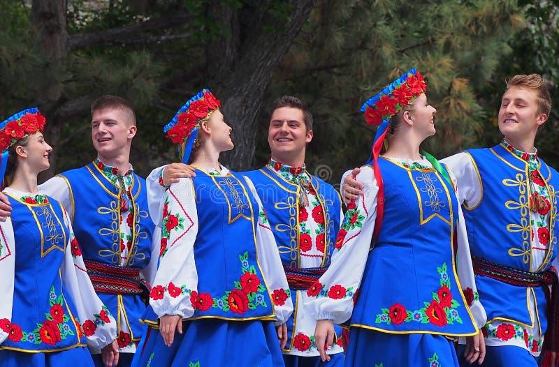Danseurs ukrainiens images stock