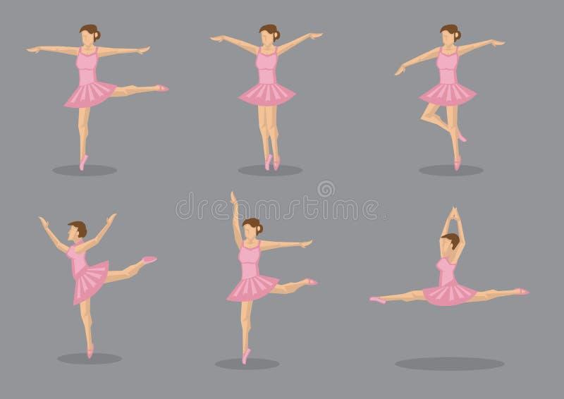 Danseuse classique de ballerine dans l'ensemble rose d'icône de vecteur de tutu illustration de vecteur